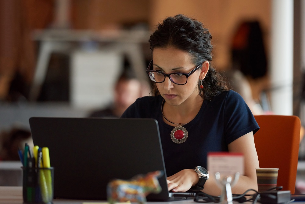 startup business, woman  working on laptop